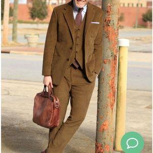 VTG Camel Corduroy 3pc Suit Set 42R